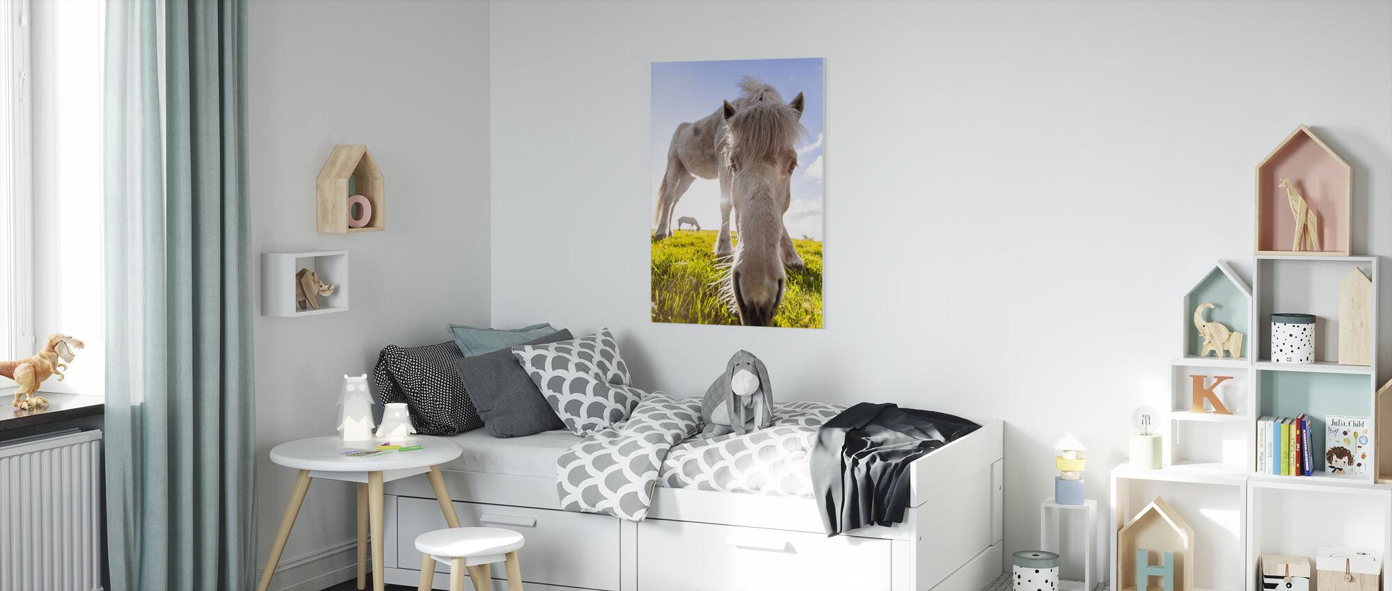 White Horse - Canvas print - Kids Room