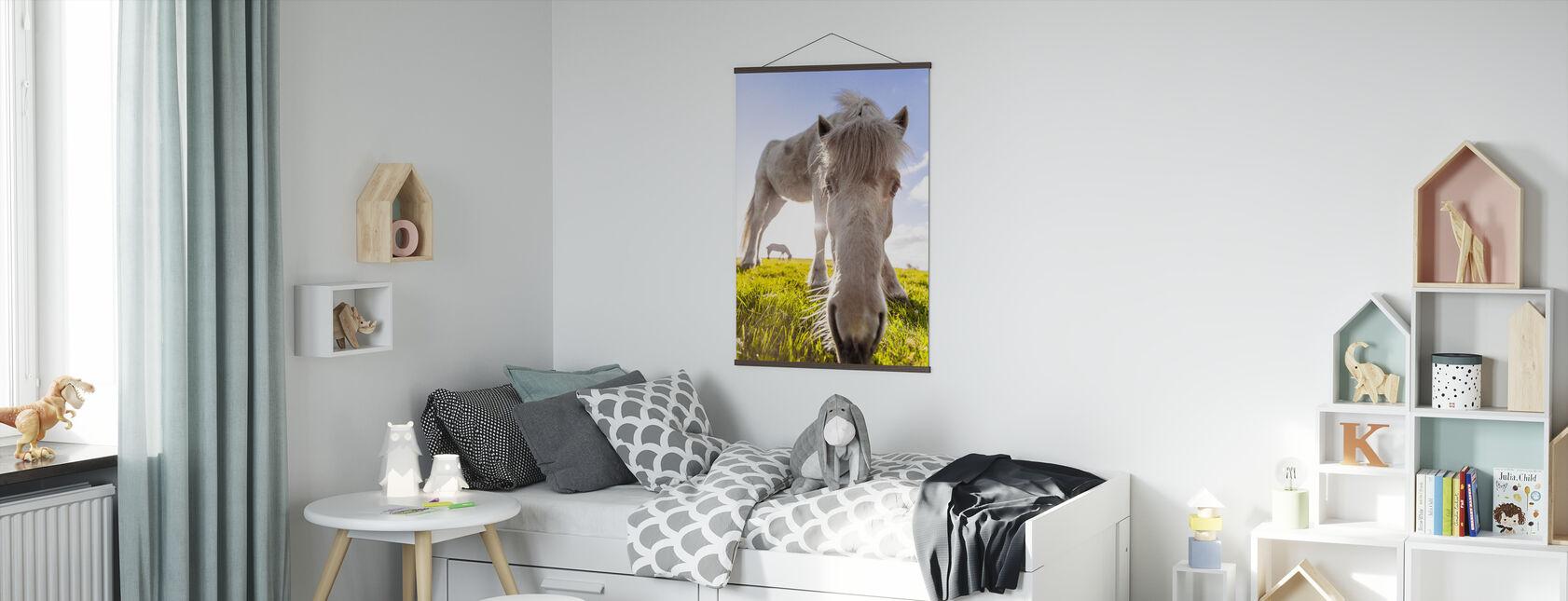 White Horse - Poster - Kids Room