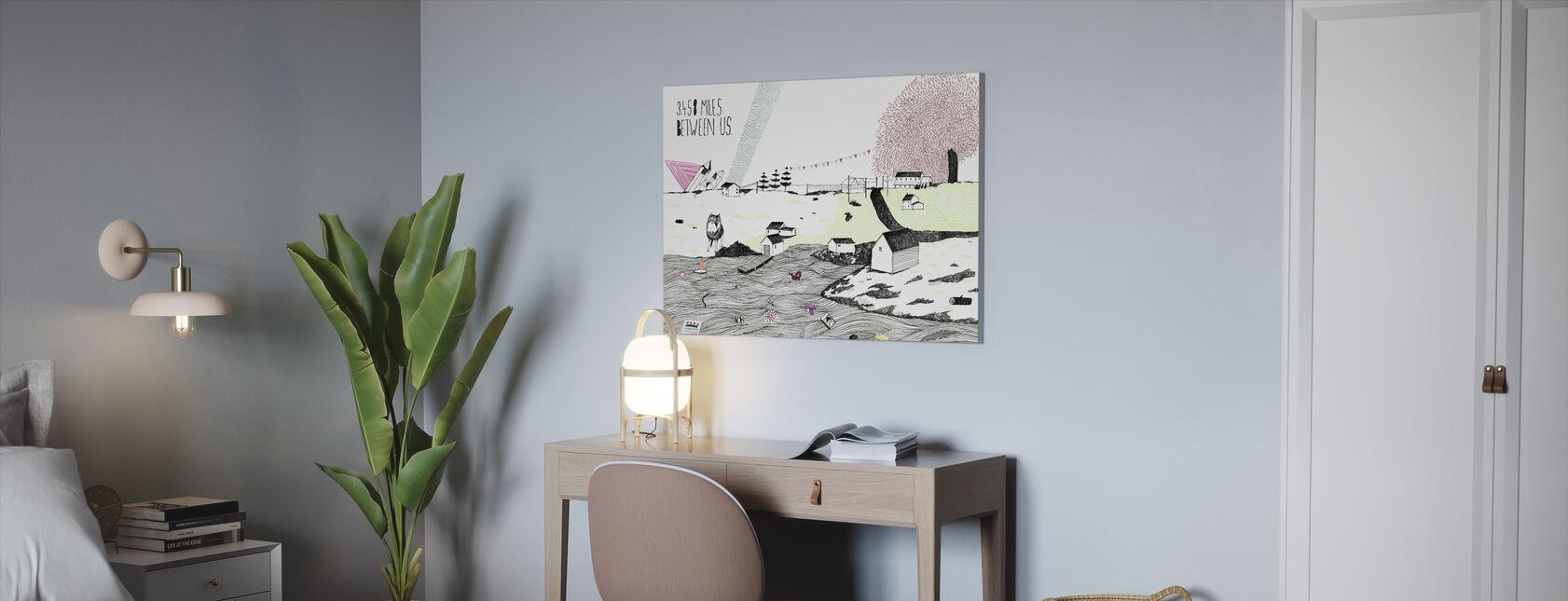 Miles Between Us - Canvas print - Office