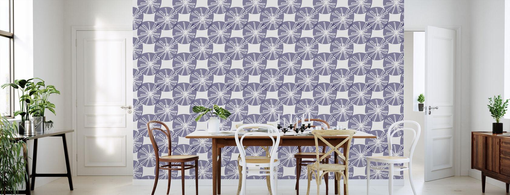 Dandelion - purple - Wallpaper - Kitchen