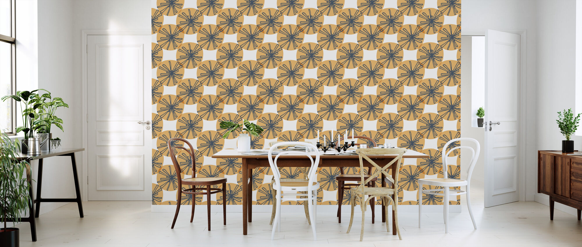 Dandelion - Orange - Wallpaper - Kitchen