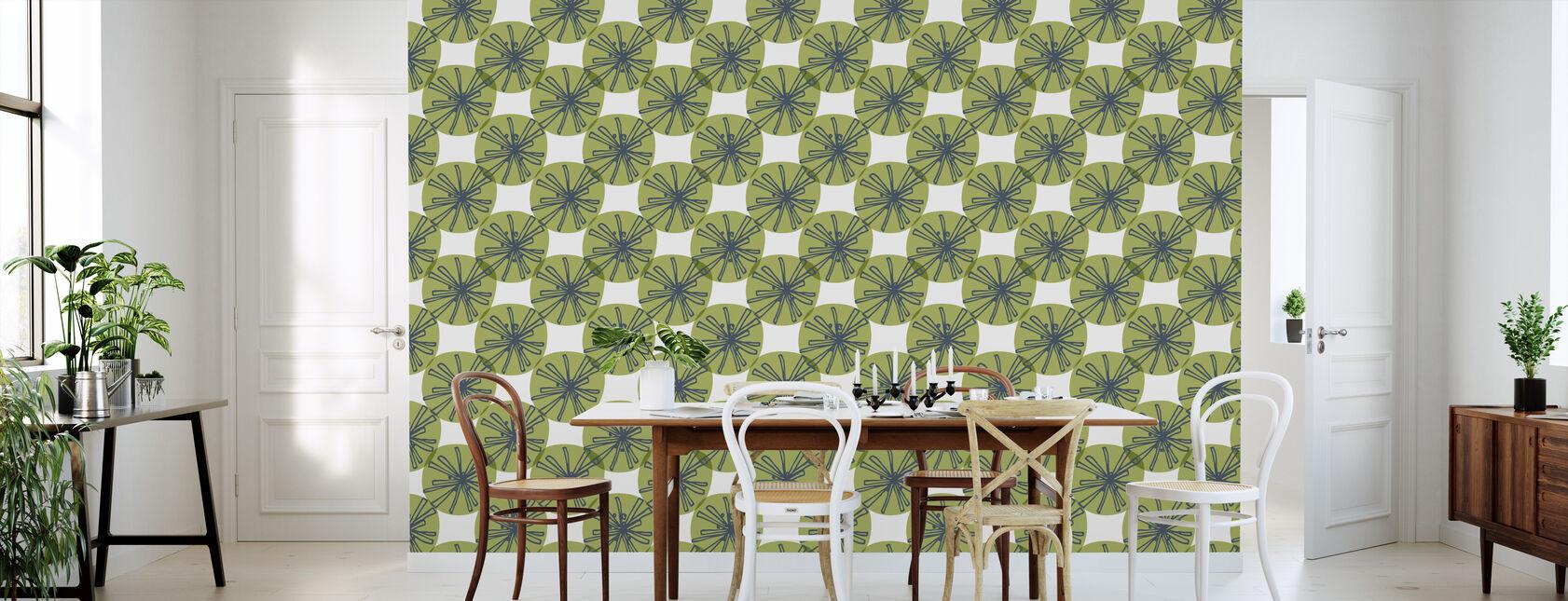 Paardebloem - Groen - Behang - Keuken