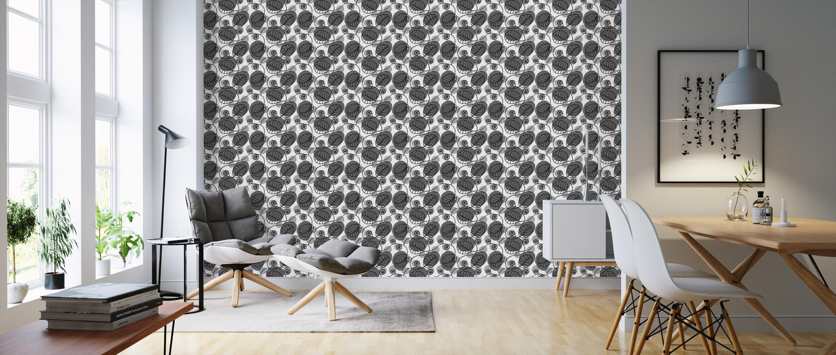 flora grey eine tapete f r jeden raum und jedes ambiente photowall. Black Bedroom Furniture Sets. Home Design Ideas
