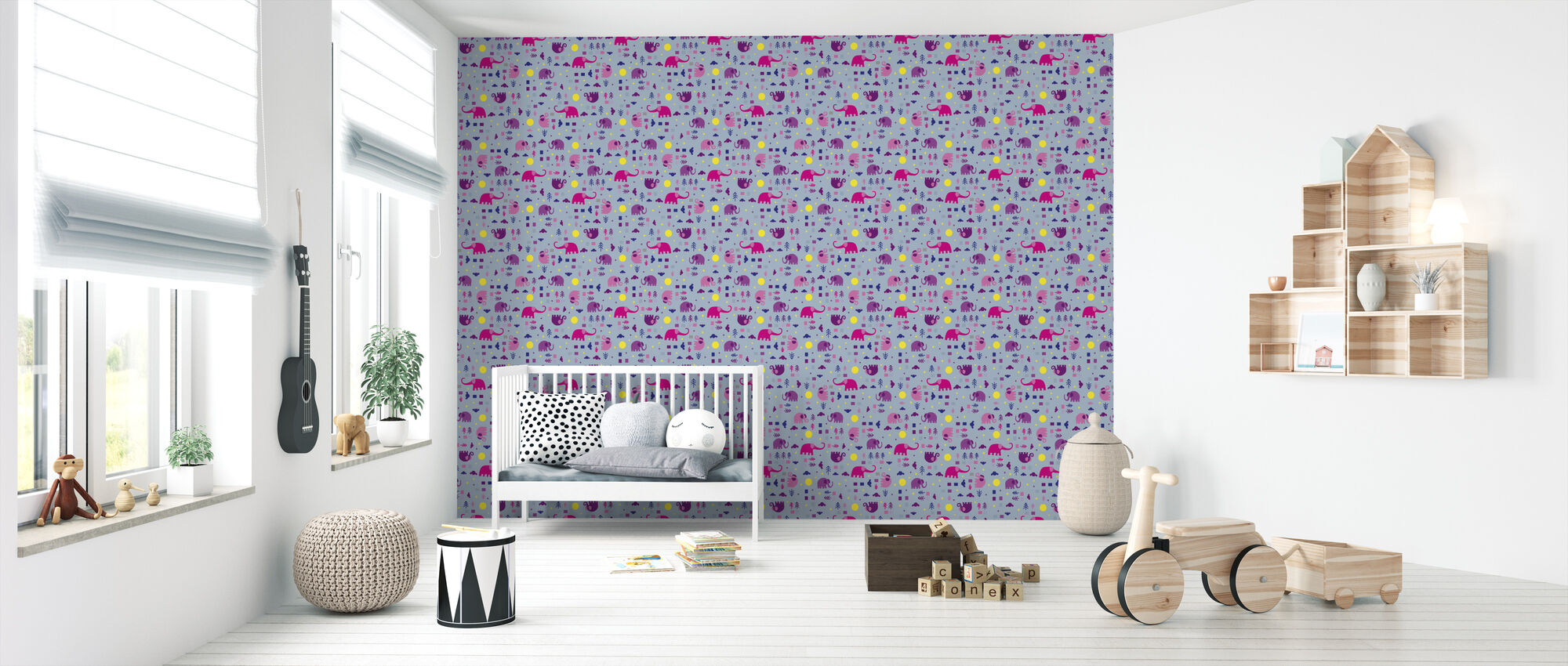 Elephant - Wallpaper - Nursery