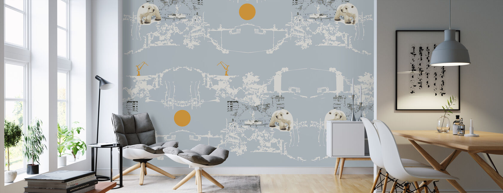 Polar Bear - Wallpaper - Living Room