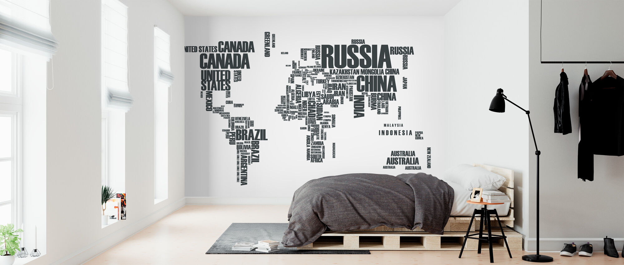 World in Wordcloud - Wallpaper - Bedroom