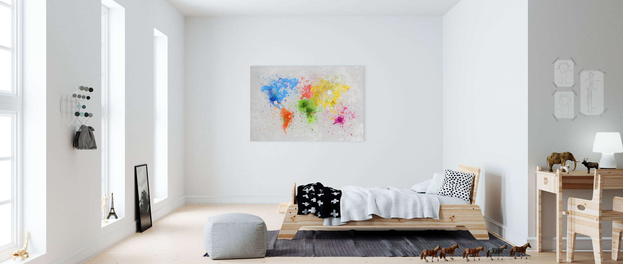 Colorful World - Canvas print - Kids Room