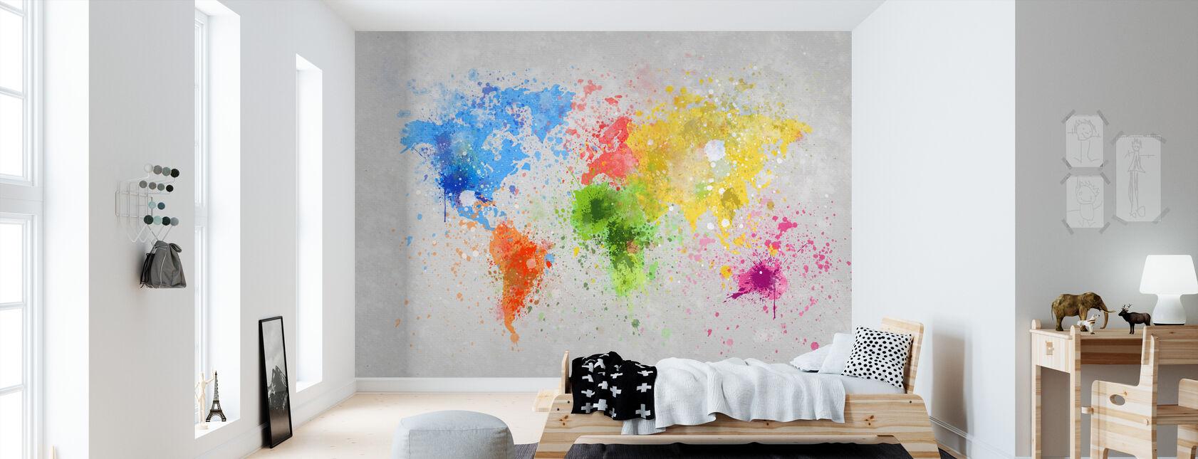 Farverige verden - Tapet - Børneværelse