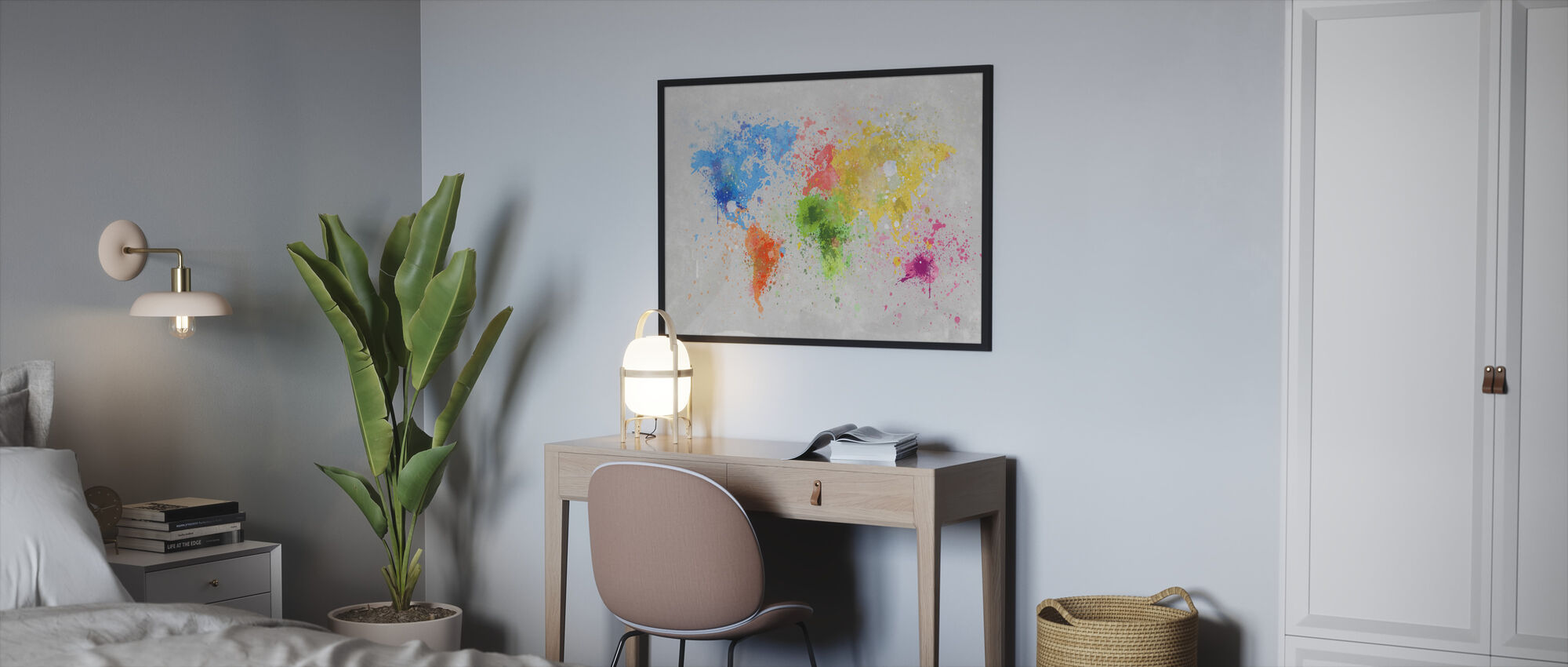 Colorful World - Framed print - Bedroom