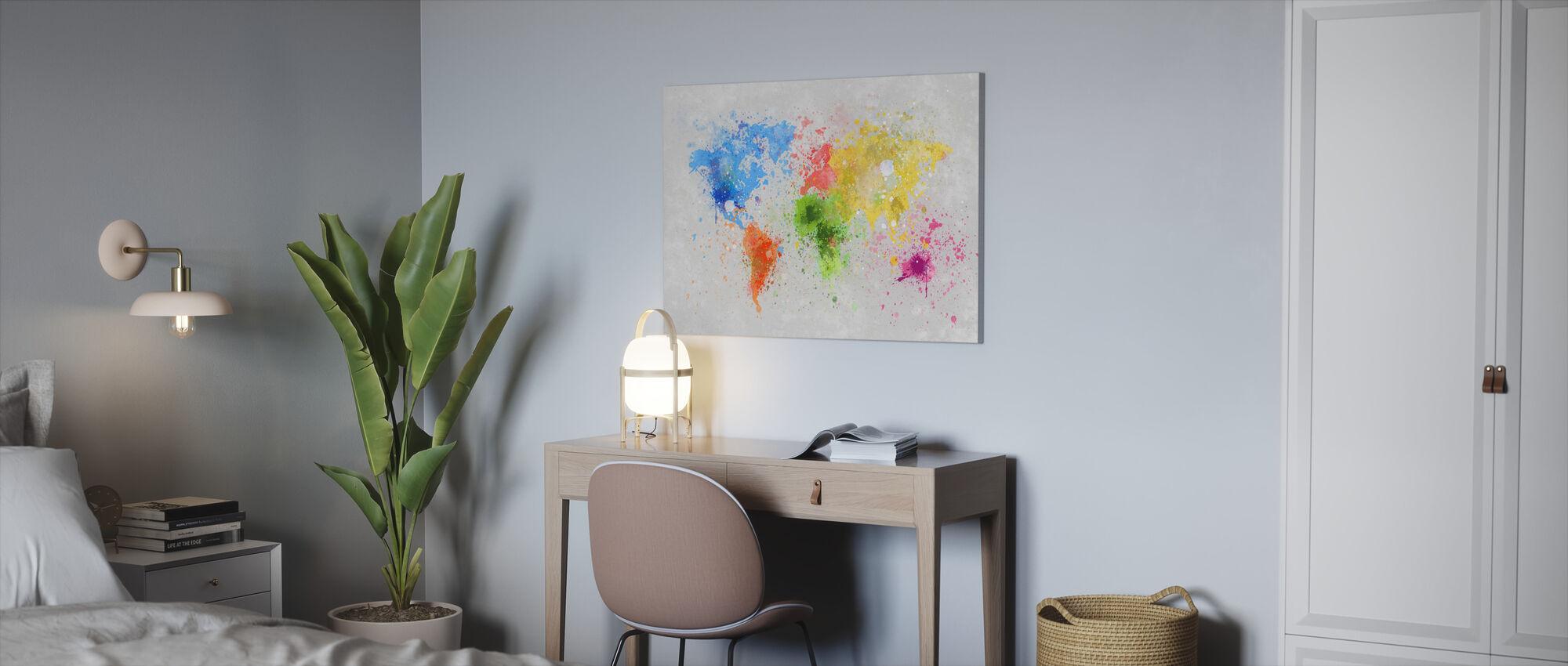 Värikäs maailma - Canvastaulu - Toimisto