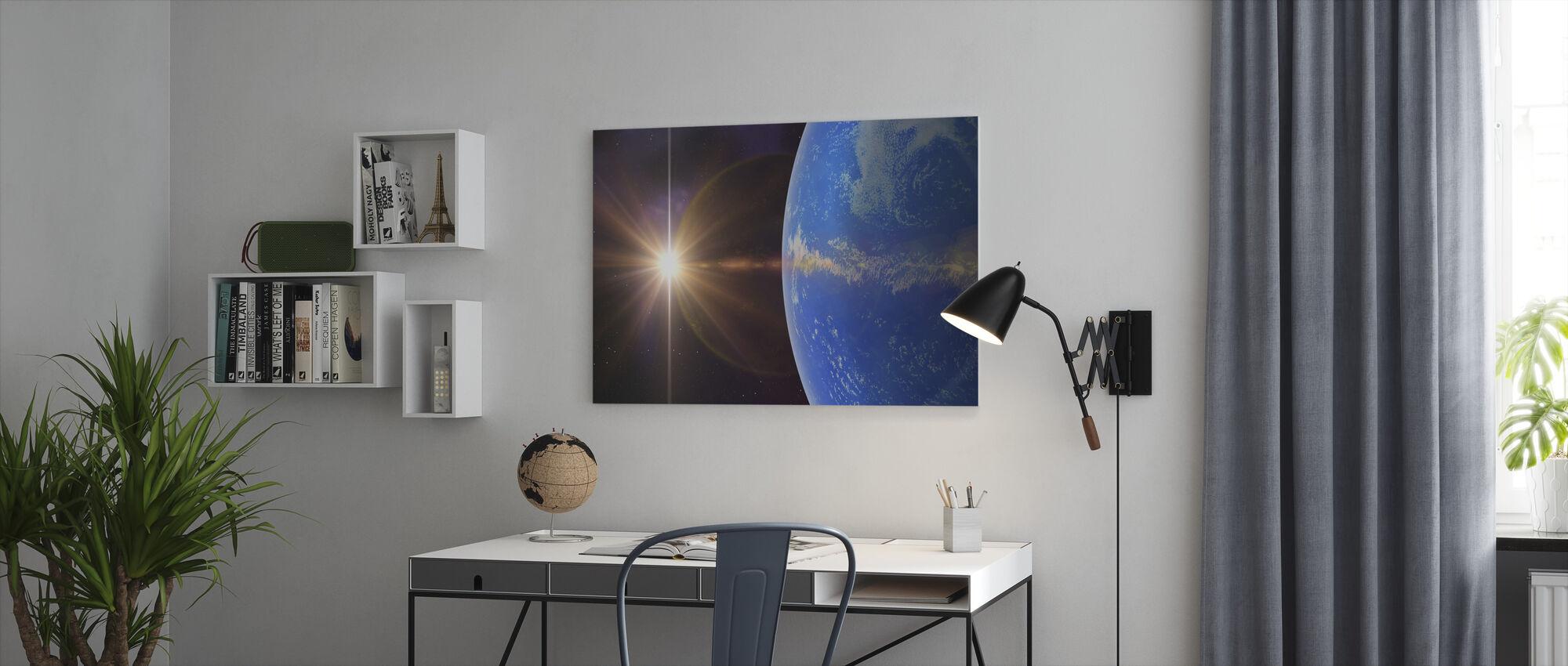 Blauwe Planeet - Canvas print - Kantoor