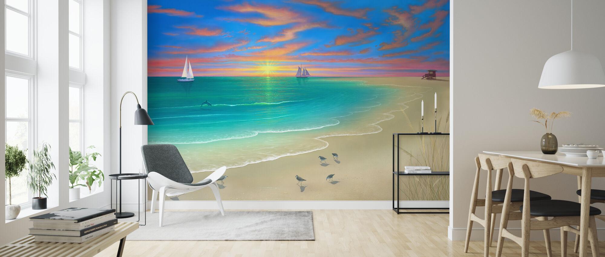 Päivä rannalla - Tapetti - Olohuone