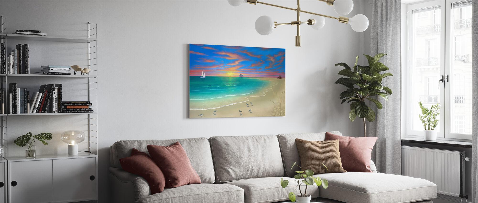 Päivä rannalla - Canvastaulu - Olohuone