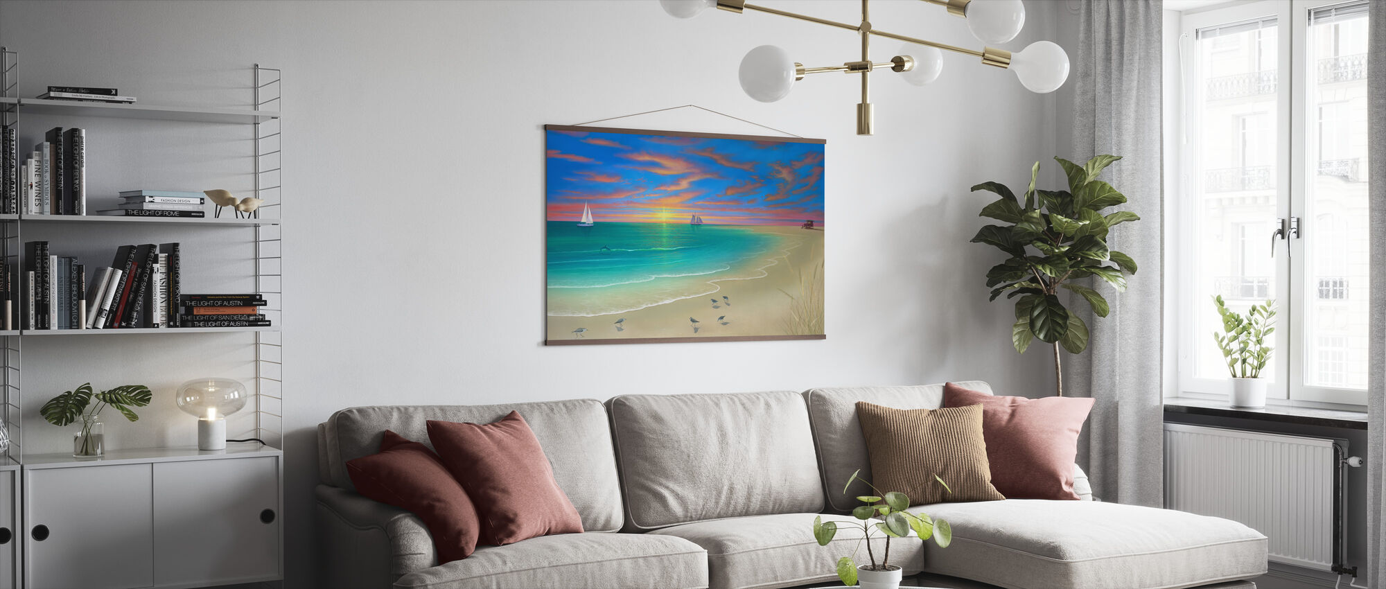 Day at the Beach - Poster - Living Room