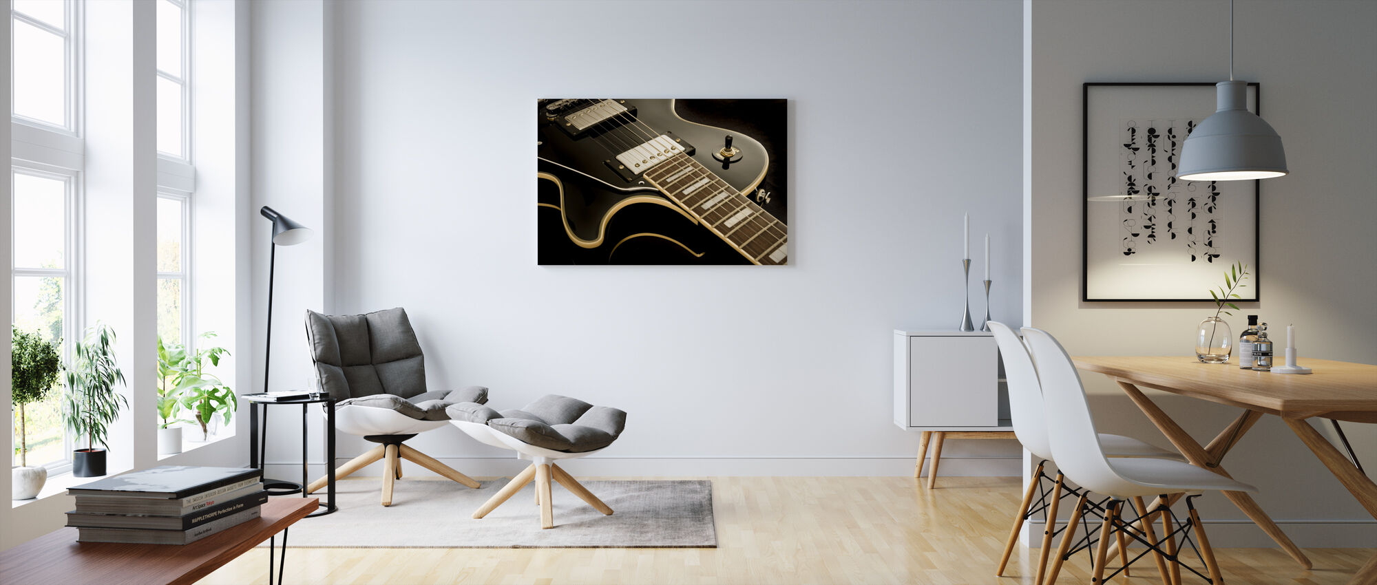 Vintage Guitar - Canvas print - Living Room