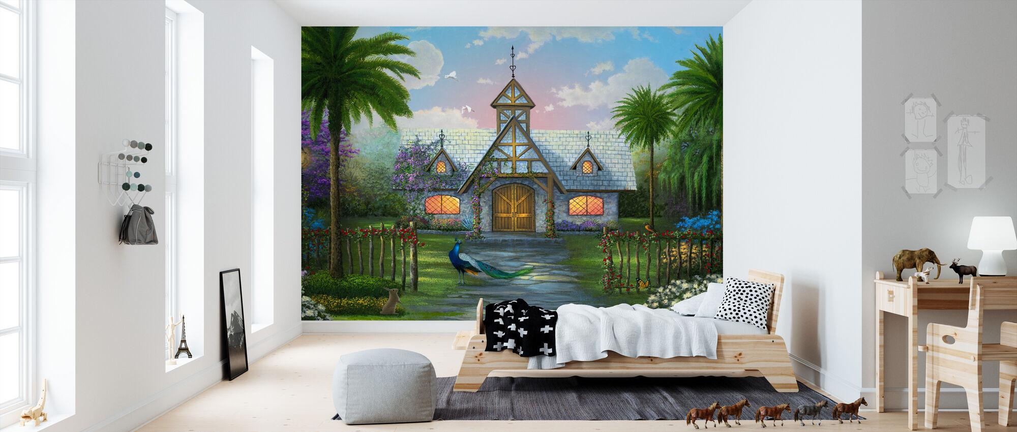 Paradise hytte - Tapet - Barnerom
