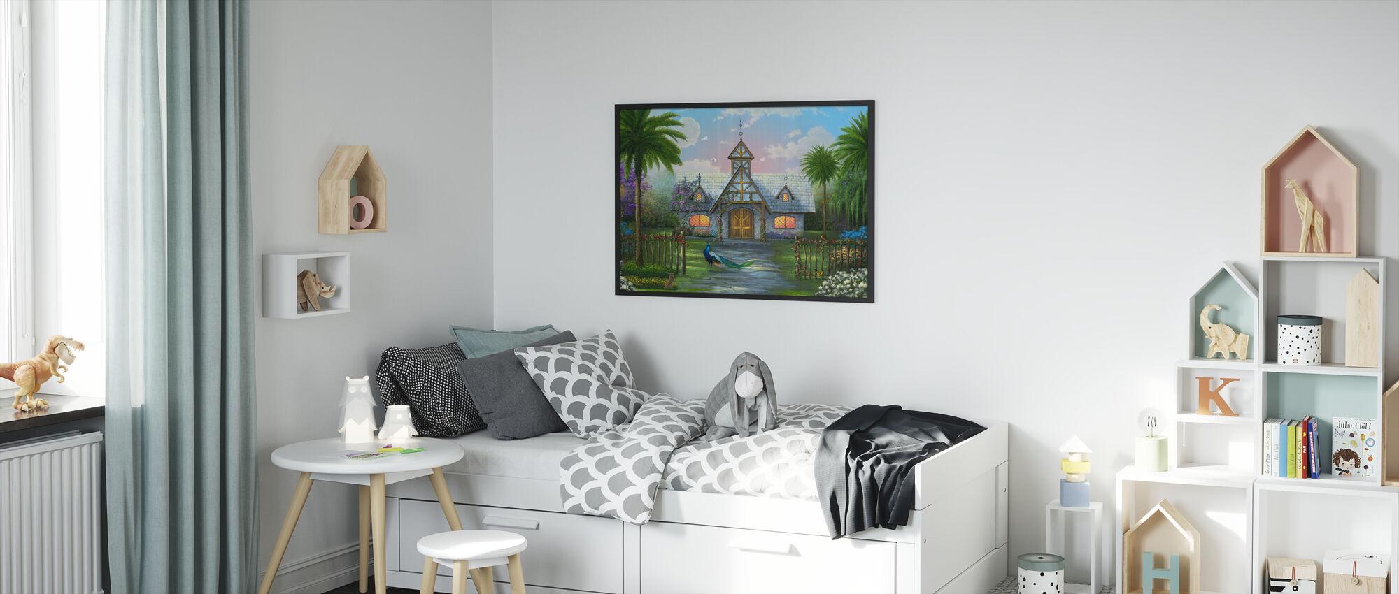 Paradise Cottage - Framed print - Kids Room