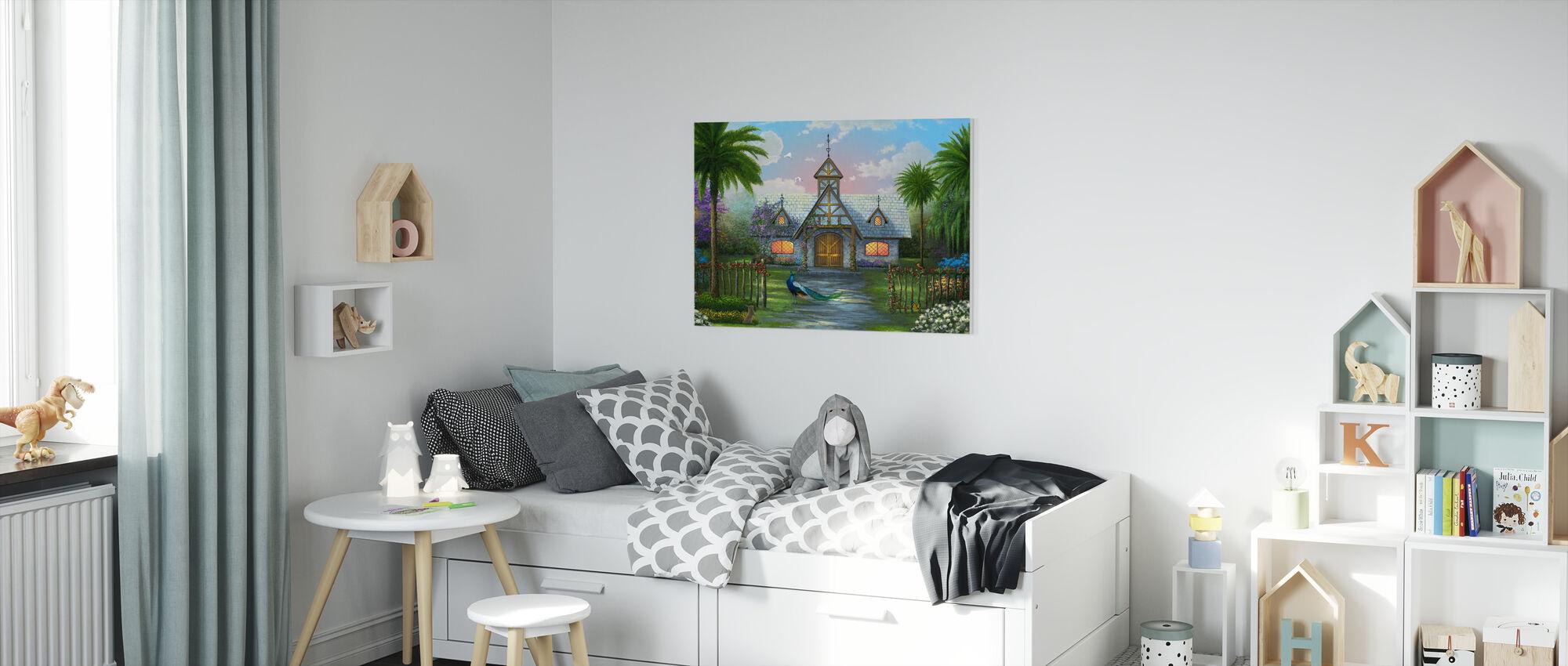 Paradise Cottage - Canvas print - Kids Room
