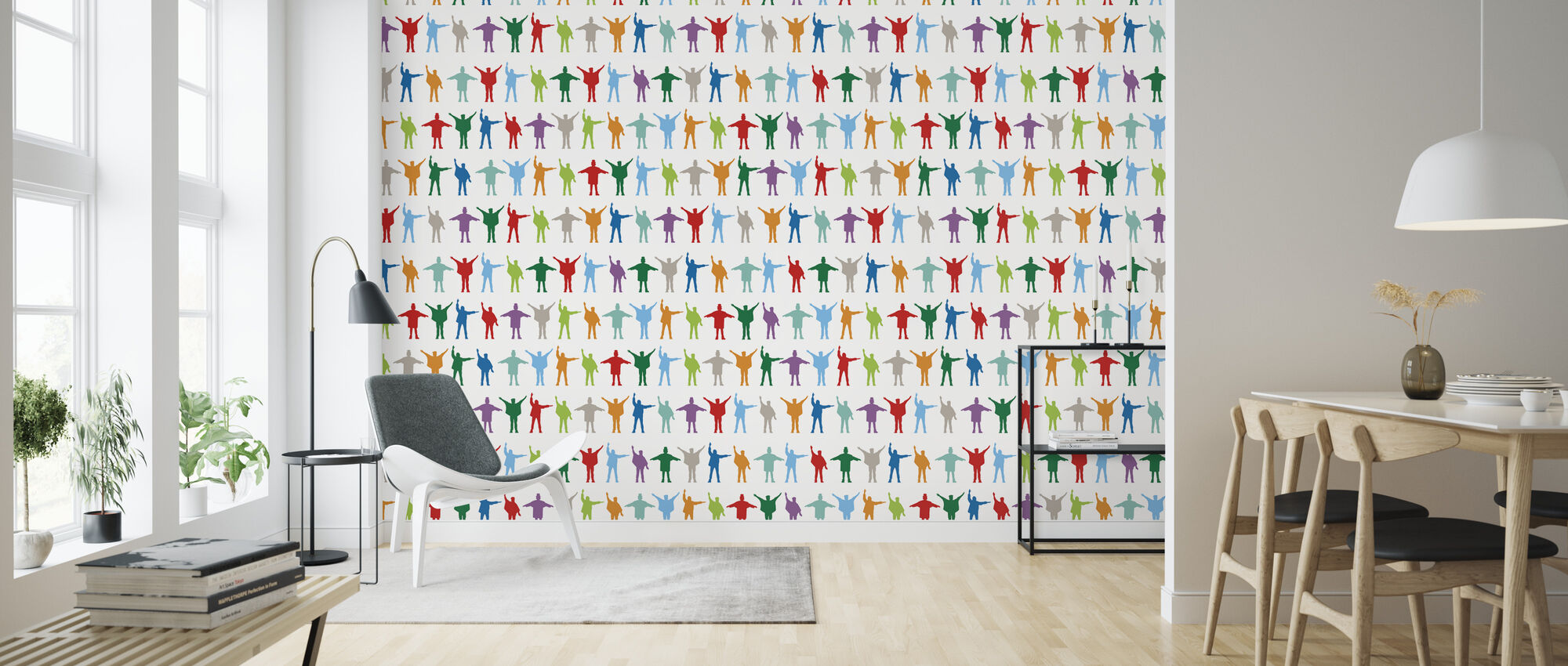 Beatles - Pattern - Wallpaper - Living Room