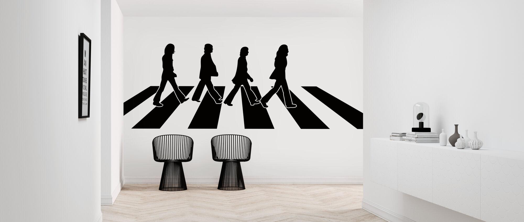 Beatles - Abbey Road kuvitus - Tapetti - Aula