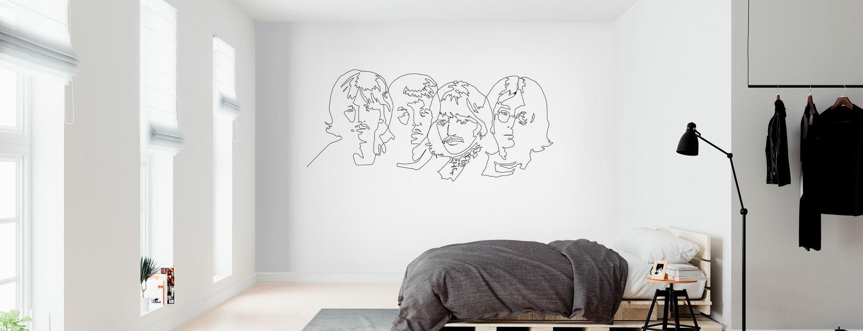 Beatles - Contour - Papier peint - Chambre