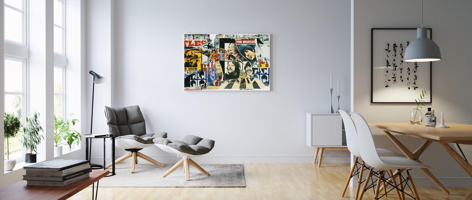 Beatles - Mur d'affiche vintage - Impression sur toile - Salle à manger