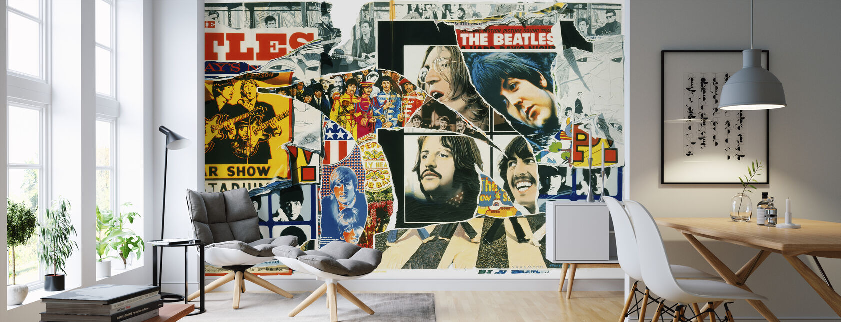 Beatles - Vintage Juliste Wall - Tapetti - Olohuone