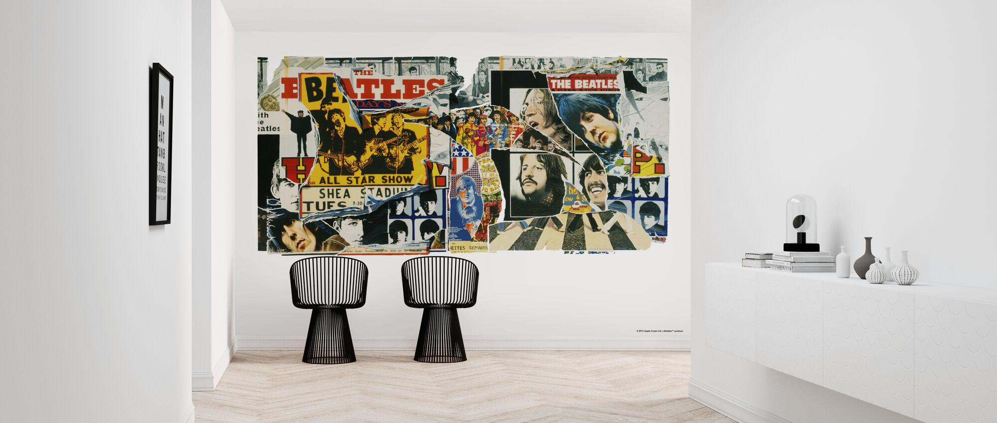 Beatles - Vintage Posters - Wallpaper - Hallway