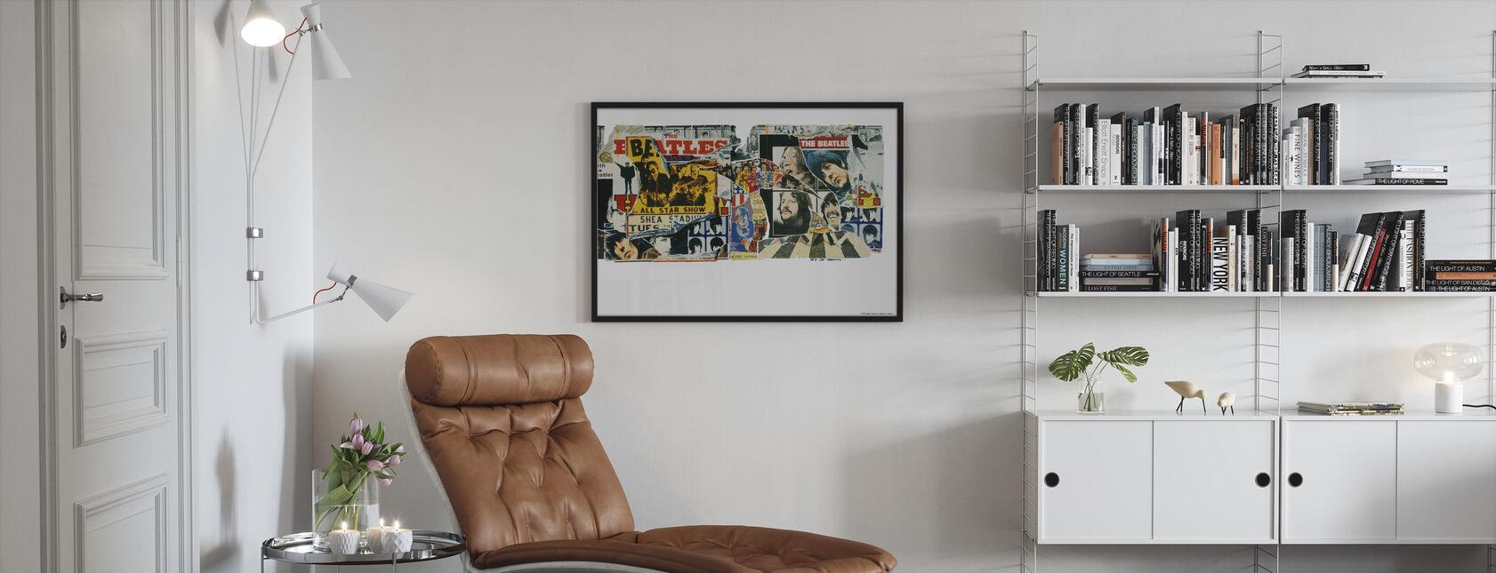 Beatles - Vintage plakater - Indrammet billede - Stue
