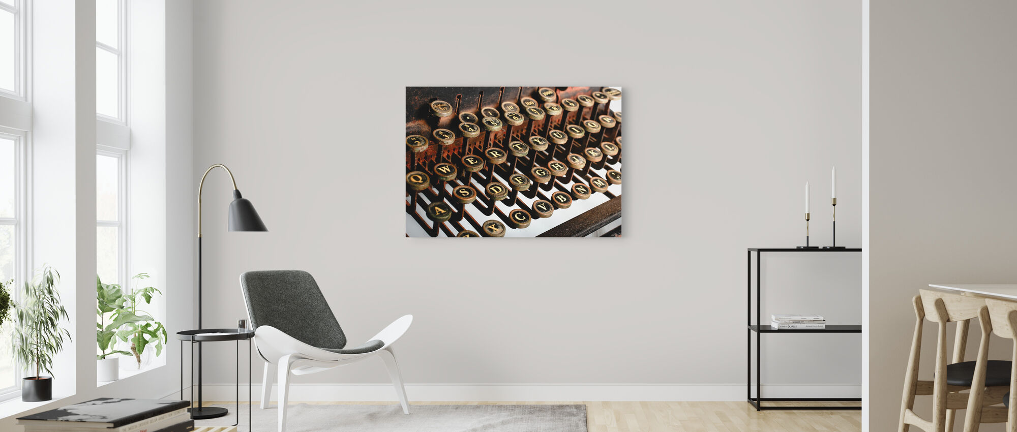 Vintage Typewriter - Canvas print - Living Room