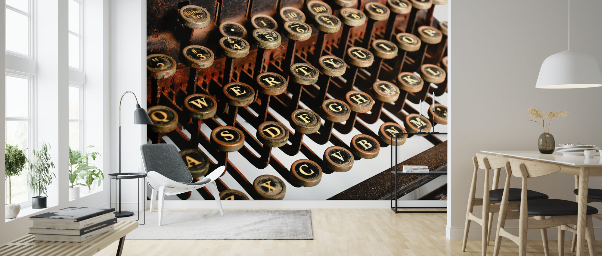 Vintage Typewriter - Wallpaper - Living Room