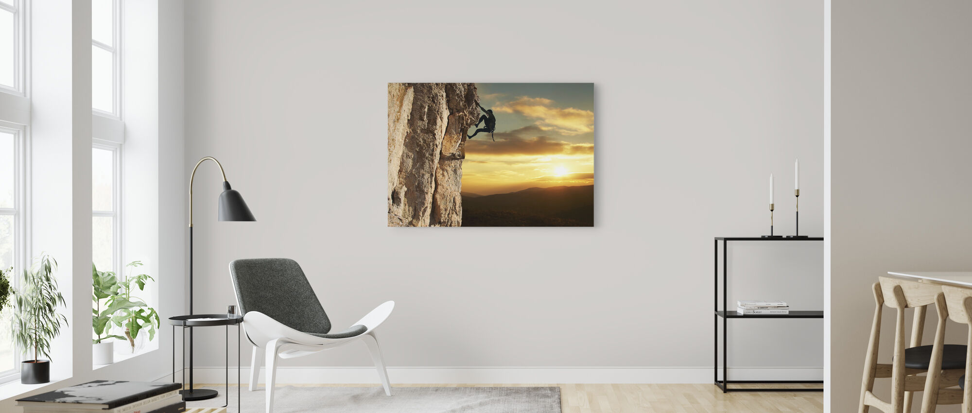 Rock Climber - Canvas print - Living Room