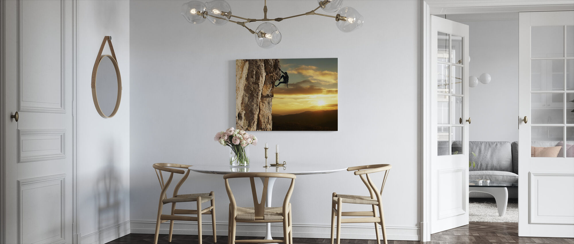 Rock Climber - Canvas print - Kitchen