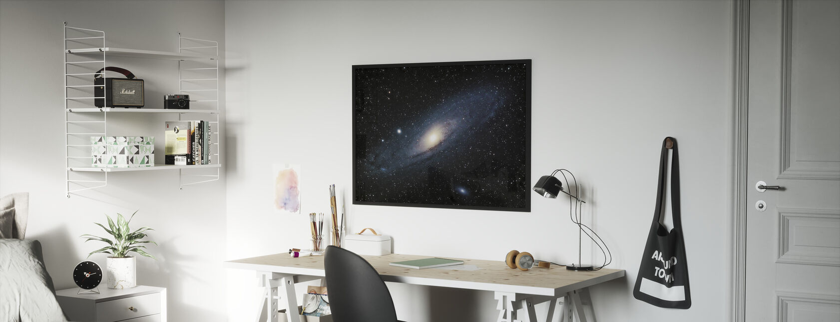 Andromeda Galaxy - Framed print - Kids Room