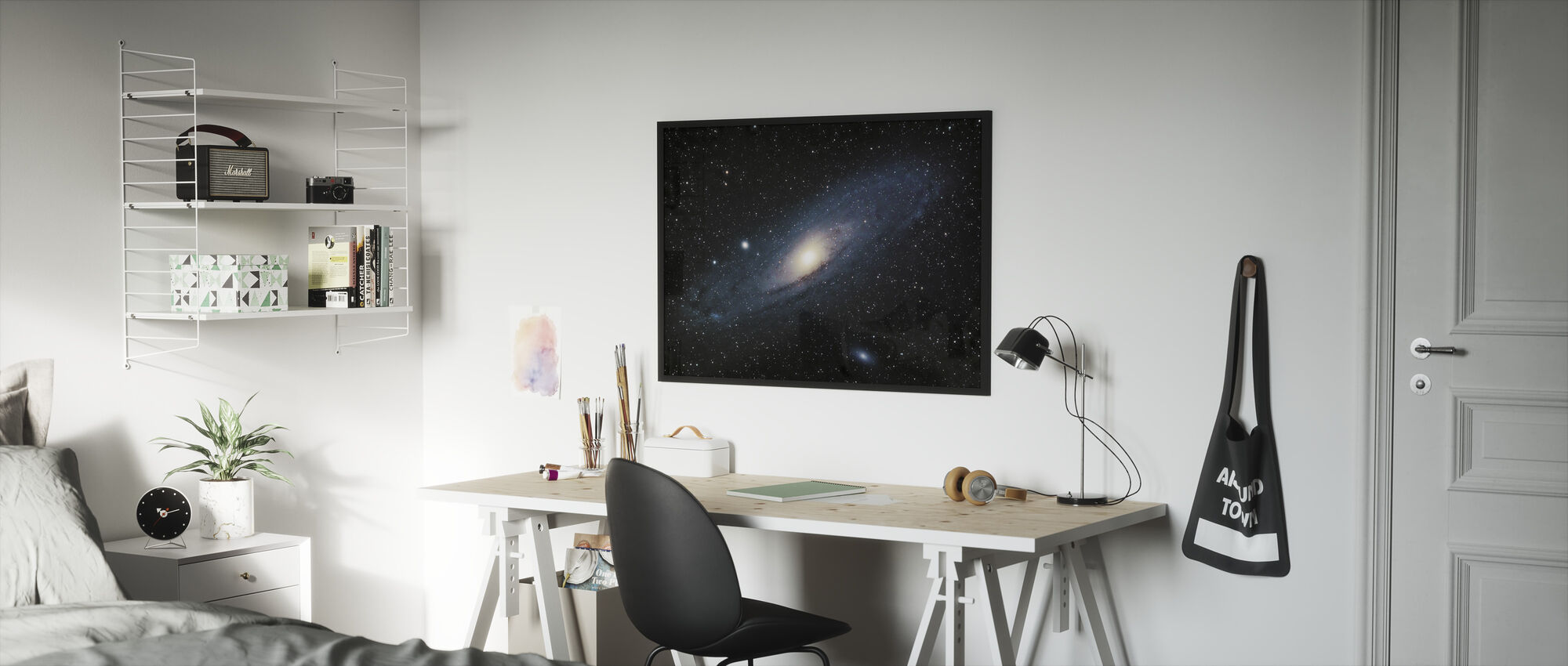 Andromeda Galaxy - Framed print - Kids Room