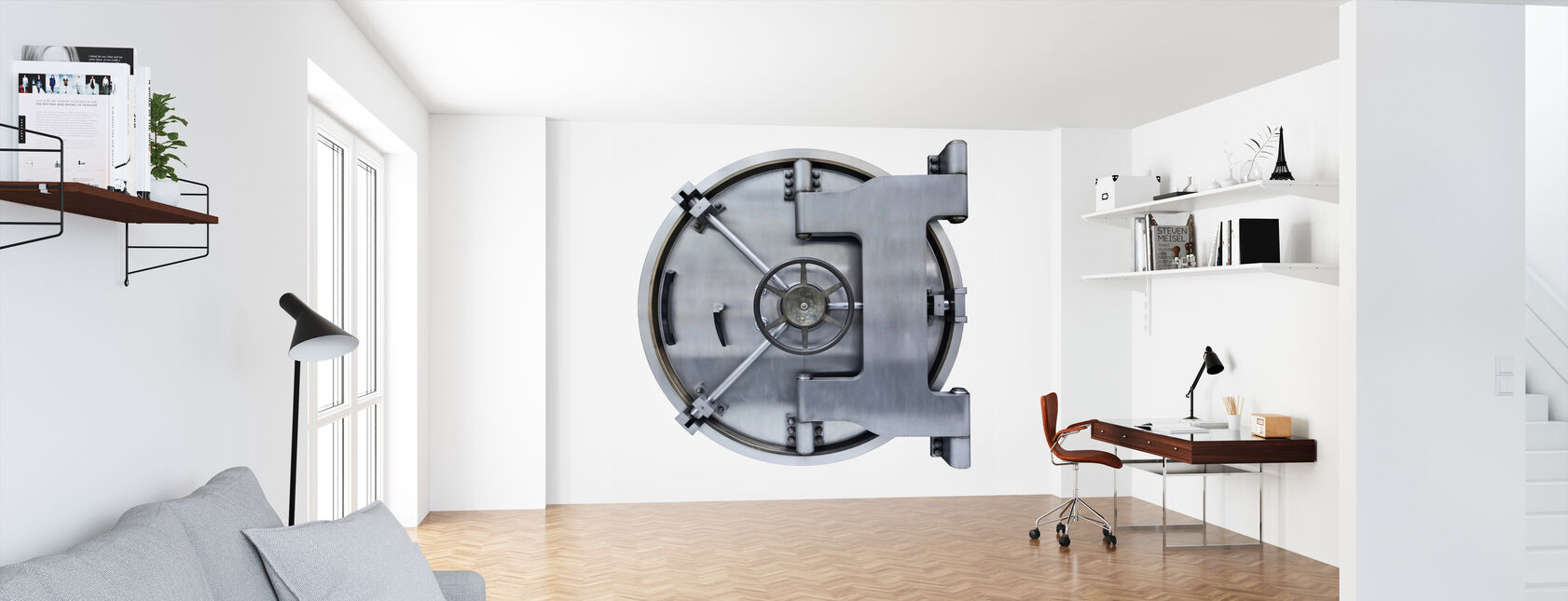 Steel Vault Door - Wallpaper - Office