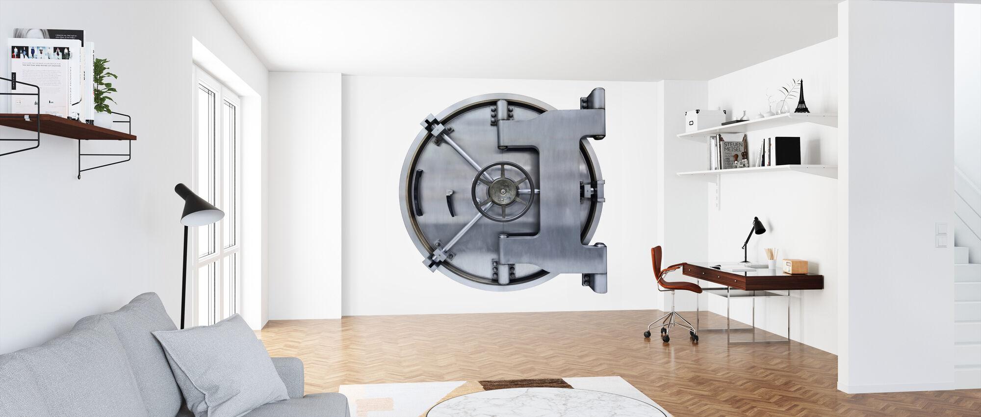 Steel Vault Door - Wallpaper - Office