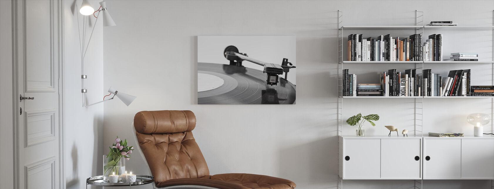 Gammel Vinyl spiller - Lerretsbilde - Stue