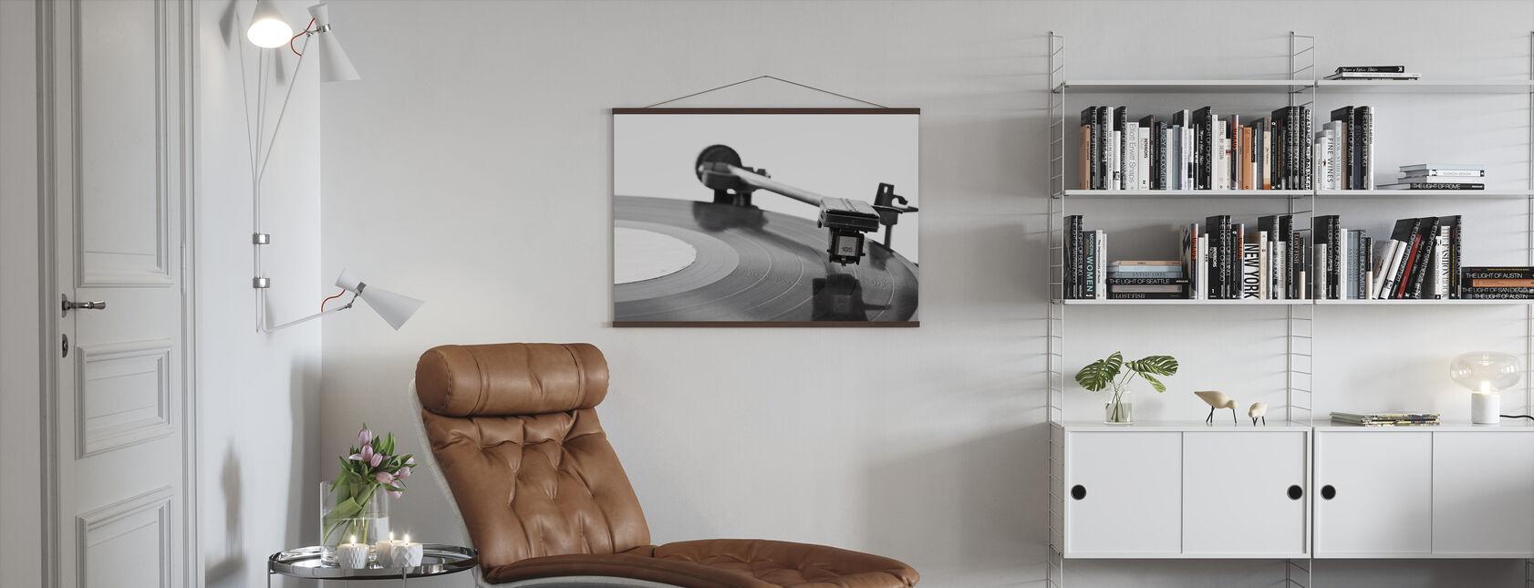 Old Vinyl Player - Poster - Living Room