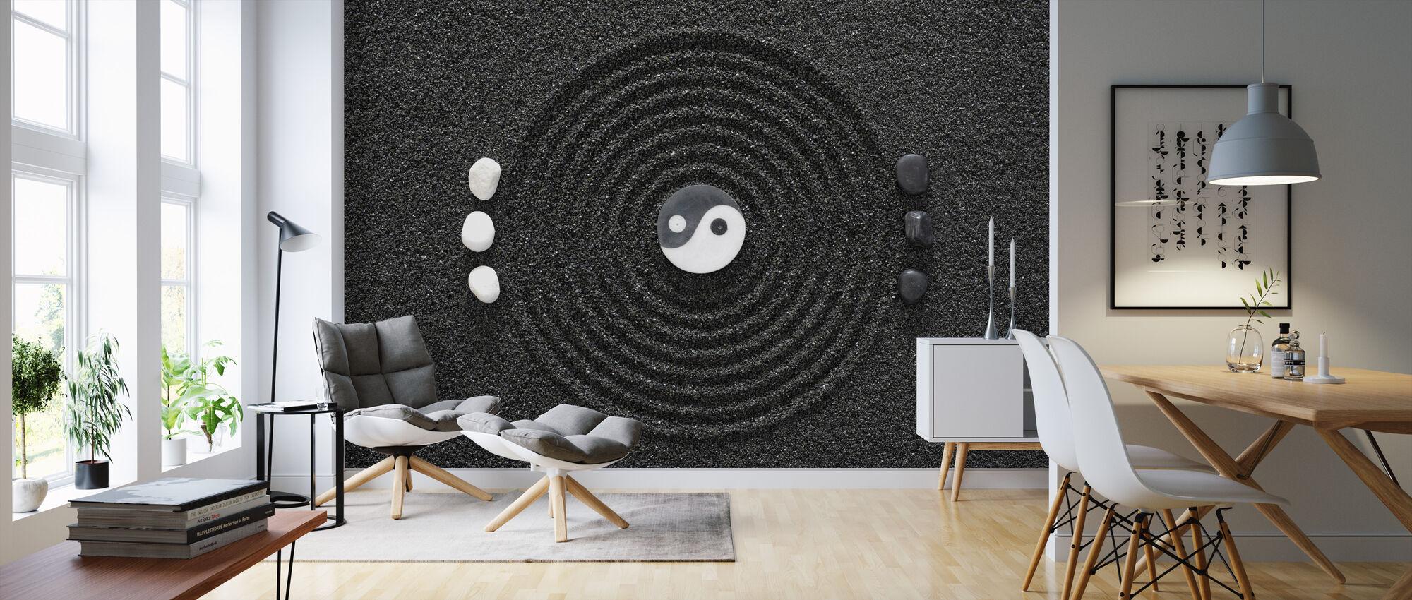 Zen in Black Sand - Wallpaper - Living Room