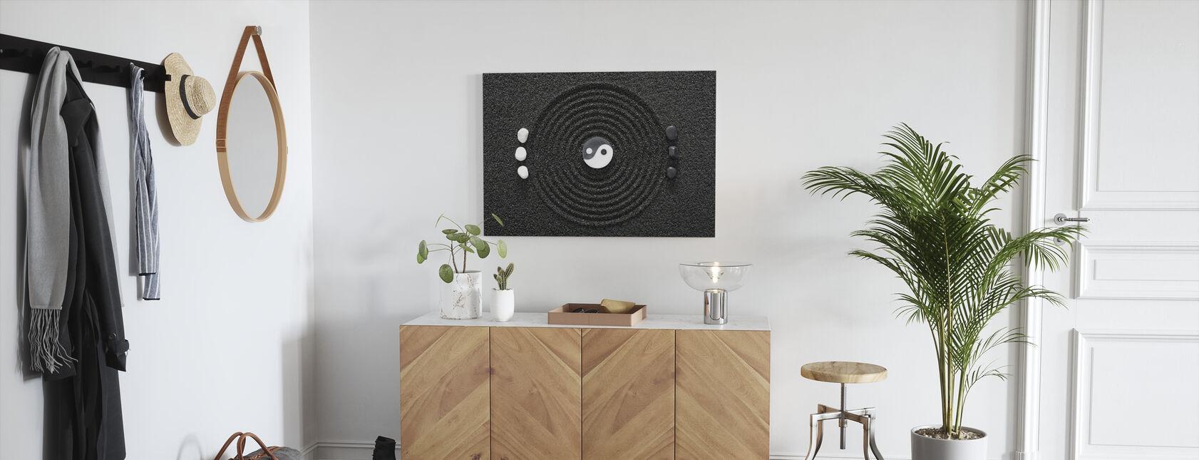 Zen in zwart zand - Canvas print - Gang