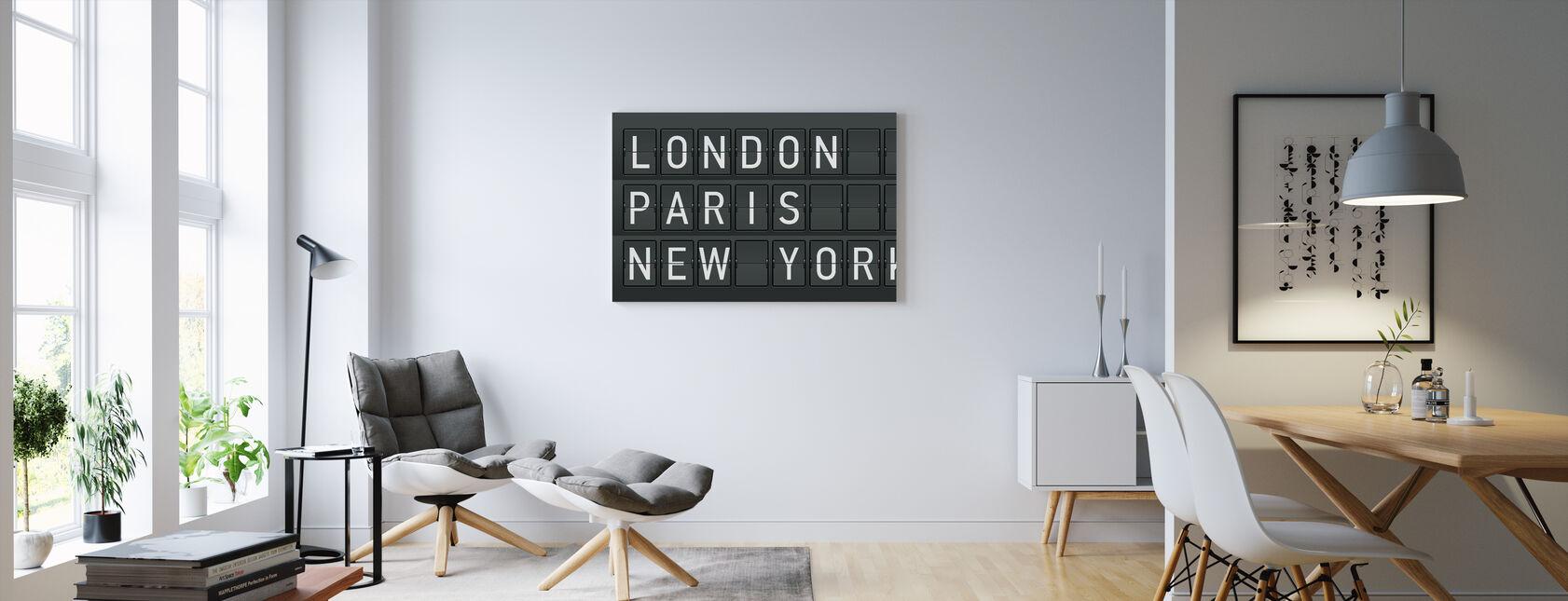 Londres - Paris - New York - Impression sur toile - Salle à manger