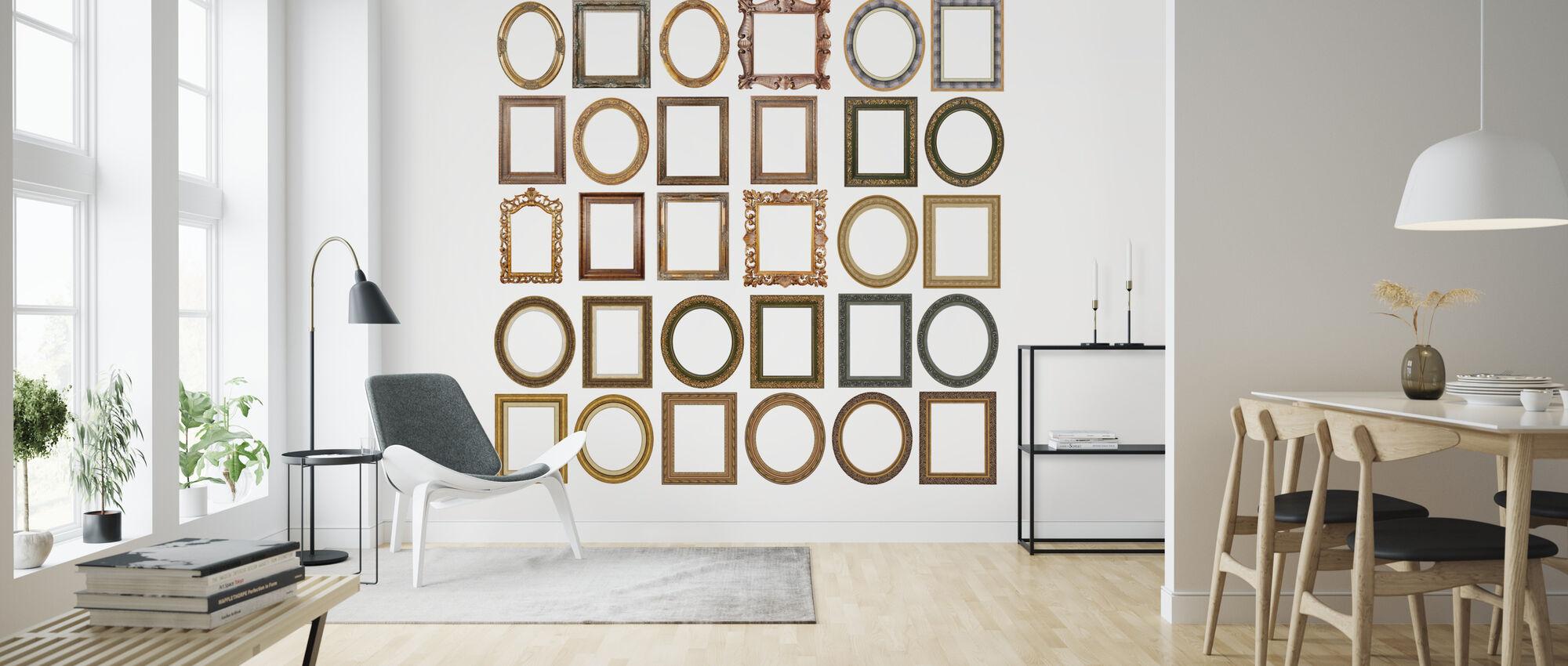 Gouden Frames - Behang - Woonkamer