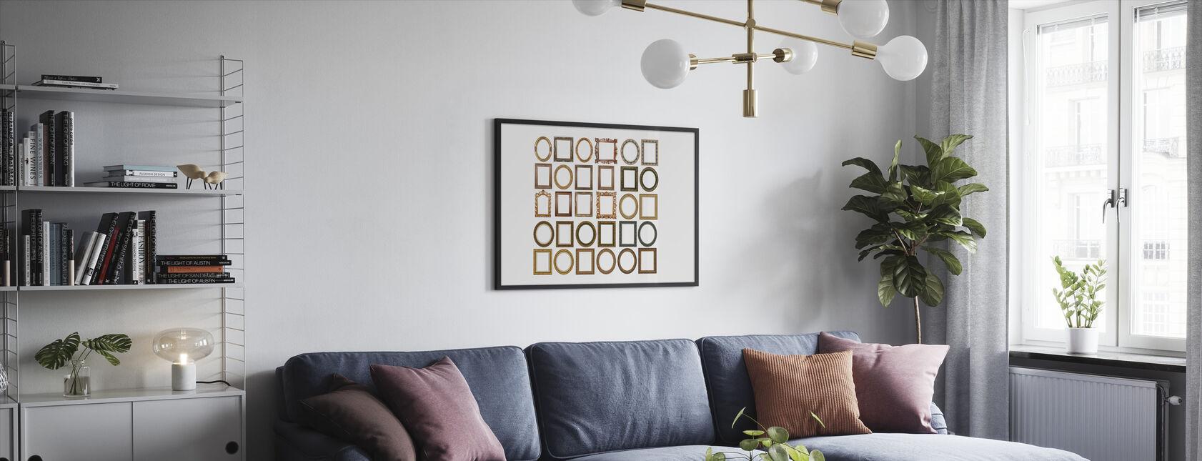 Gold Frames - Framed print - Living Room