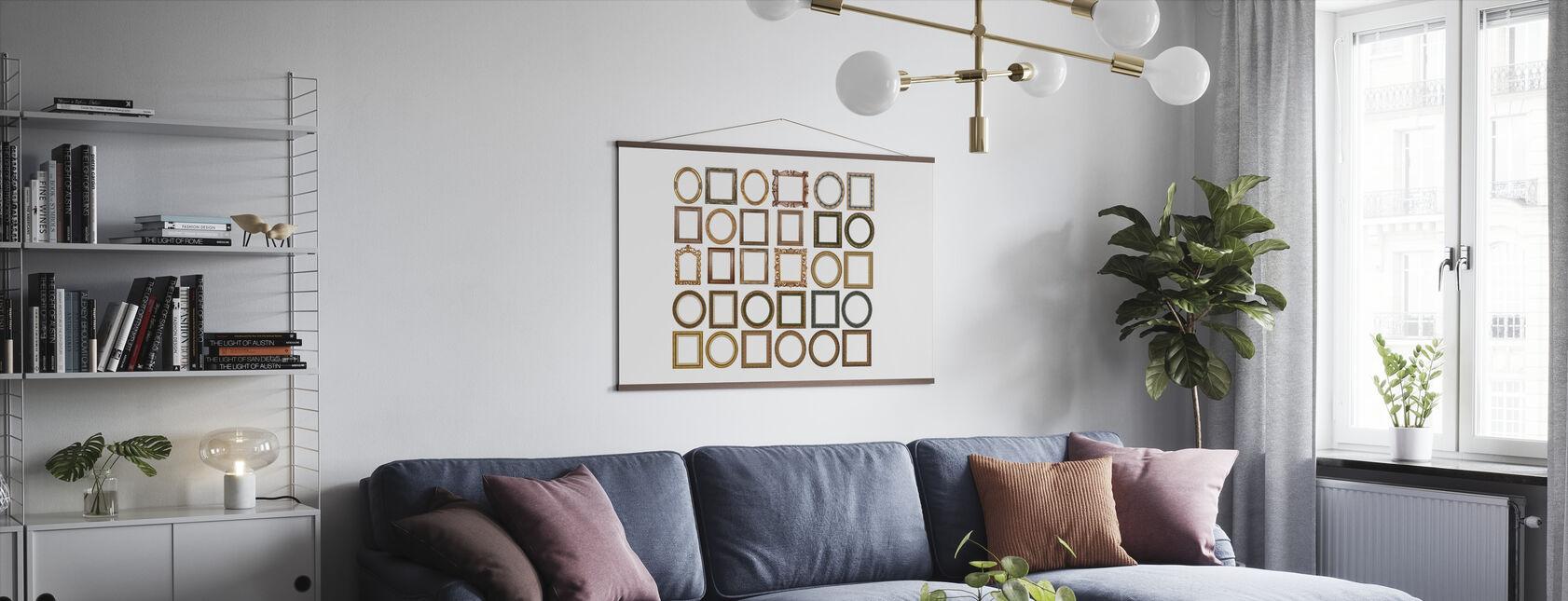 Gold Frames - Poster - Living Room
