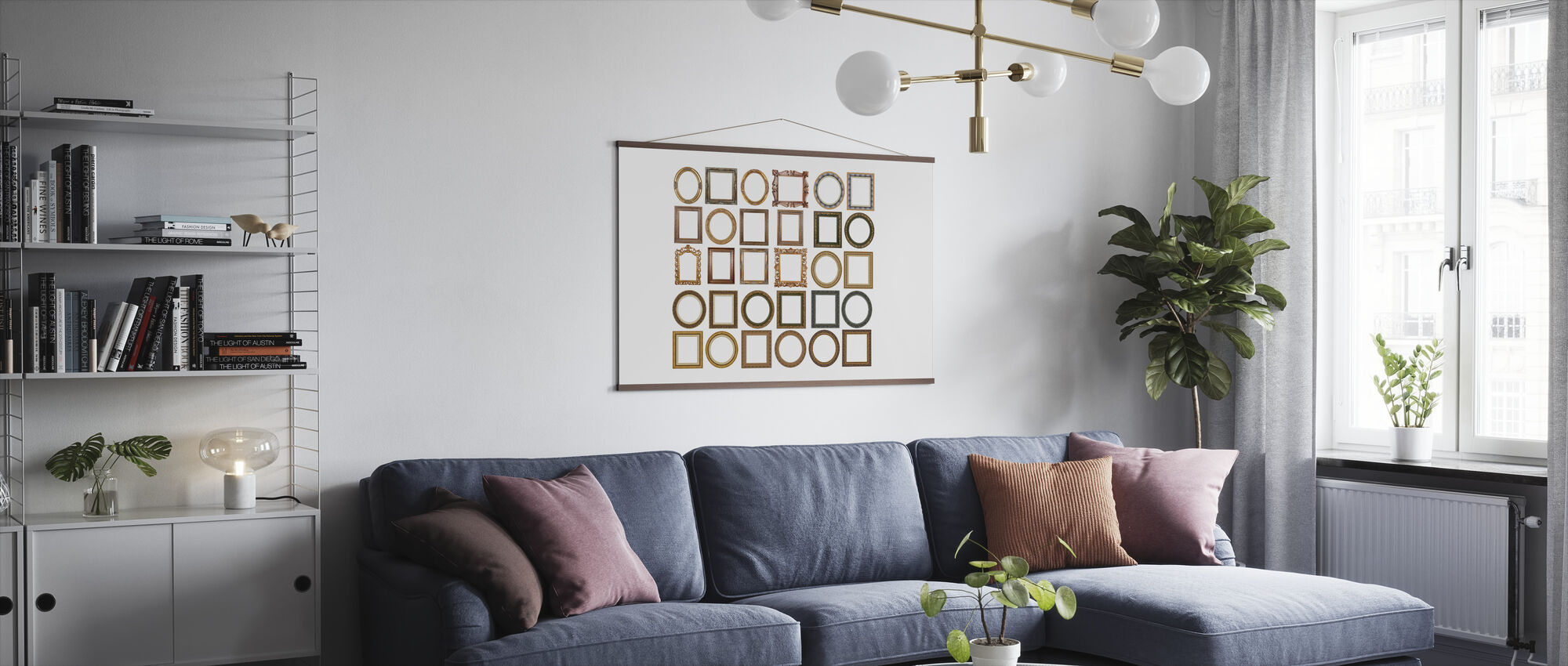 Gold Frames - Poster - Living Room