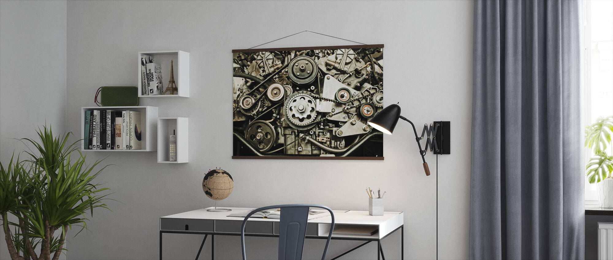 Car Engine - Poster - Office