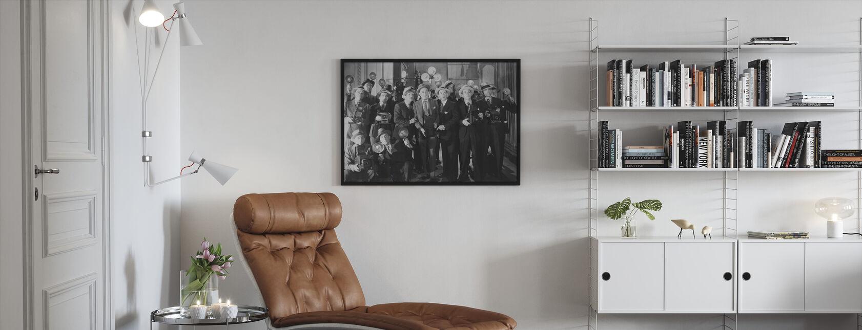 Paparazzi Verwirrung - Gerahmtes bild - Wohnzimmer