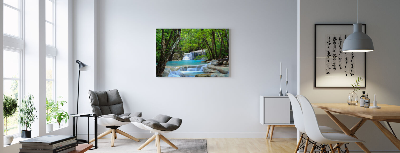 Erawan vattenfall Thailand - Canvastavla - Vardagsrum