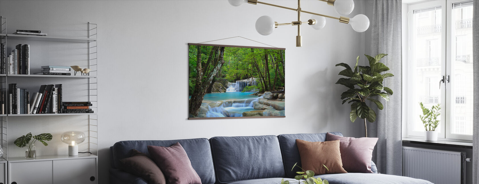 Erawan vattenfall Thailand - Poster - Vardagsrum